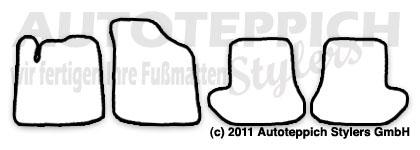 Fußmatten mit Einhorn versch Farben für Citroen C2 Bj 2003-2010