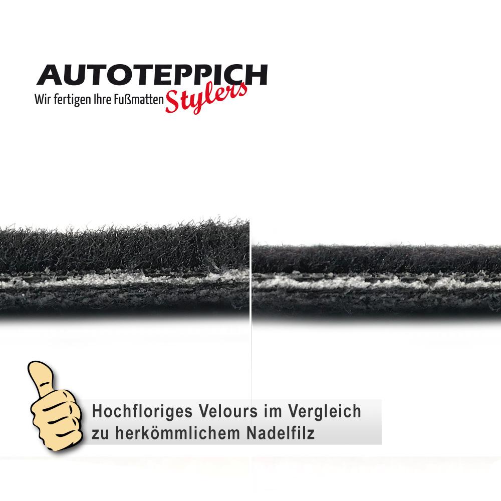 Velours Fußmatten in schwarz Mercedes Benz Vaneo W414 Bj 2001-2005