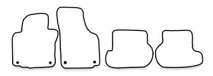 auto fu matten f r vw golf 6 cabrio. Black Bedroom Furniture Sets. Home Design Ideas